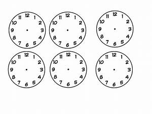 Free Worksheets » Blank Clock Faces - Free Math Worksheets ...