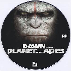 Dawn of the Planet of the Apes DVD Label (2014) Custom Art