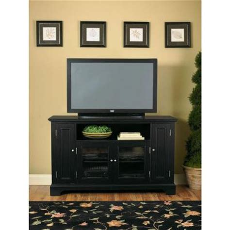 tv credenza black sauder harbor view collection 61 in antiqued white corner