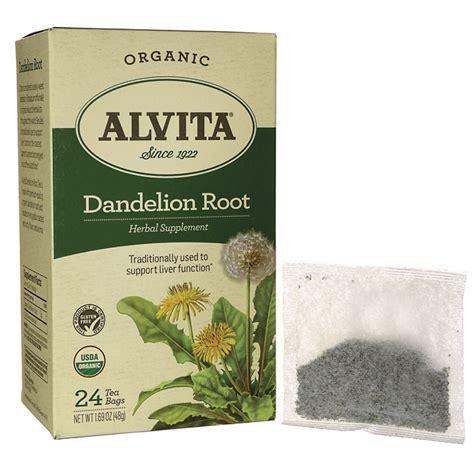 root tea alvita tea dandelion root tea 24 bag s swanson 174