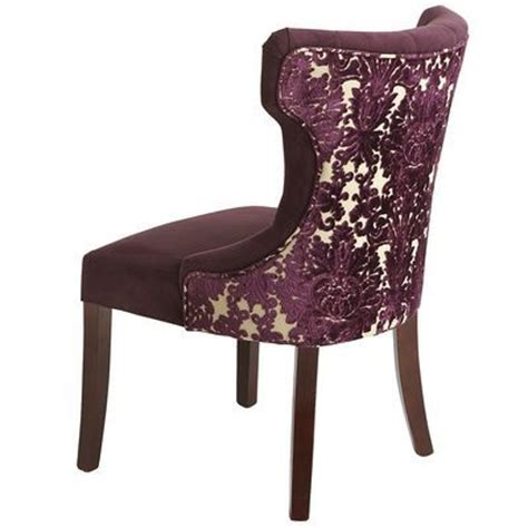 hourglass dining chair gray damask hourglass dining chair purple damask from pier 1 new