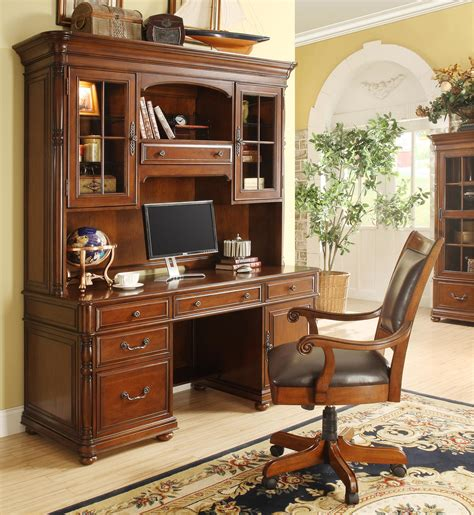 computer desk credenza large office computer desk and hutch by riverside