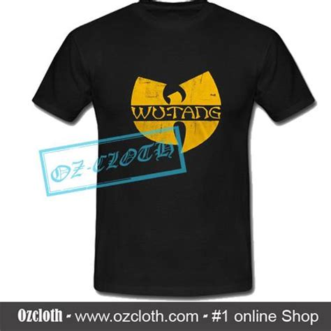 wu tang clan classic yellow logo t shirt ozcloth