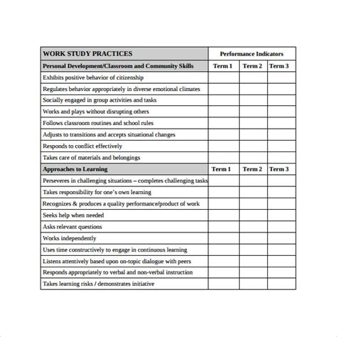 progress report card templates docs word  pages