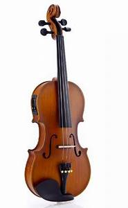 Fever Acoustic Electric Violin  Full Size 4  4  Case  Bow