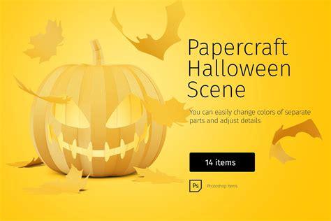 papercraft halloween scene halloween scene halloween scene