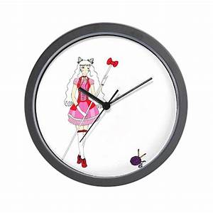 Hello kitty wall clock by birdwing04 for Hello kitty wall clock target