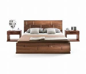 Lit Design Bois : lit double moderne 40 mod les de design contemporain ~ Teatrodelosmanantiales.com Idées de Décoration