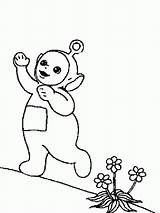 Coloring Printable Teletubbies Toddlers sketch template