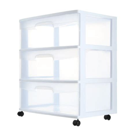 sterilite 3 drawer cart sterilite 3 drawer cart 29308001 the home depot