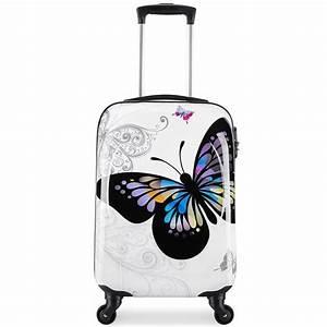 Valise Bébé Fille : valigo valise cabine femme butterffly rigide blanc achat vente valise bagage ~ Teatrodelosmanantiales.com Idées de Décoration