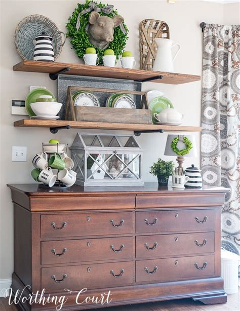 open kitchen shelves decorating ideas it 39 s all about the green in my breakfast area