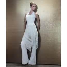 tenue de mariage femme pantalon la mariée peut porter un pantalon de mariage