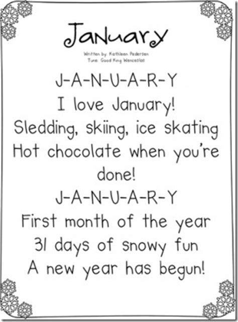 months of the year song for preschool quotes for each month calendar quotesgram 260