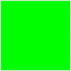 00FF00 Hex Color RGB 0 255 0