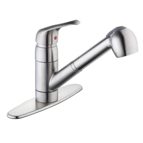 glacier bay pull out kitchen faucet glacier bay 825 series single handle pull out sprayer