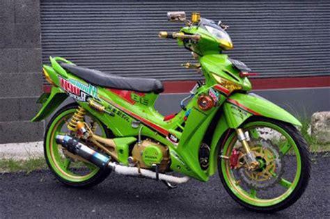 Modif Supra X 125 Warna Hijau by Kumpulan Aneka Modif Motor Honda Supra X 125 Asik Oto Trendz