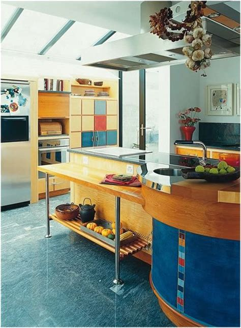 colorful mid size kitchen   functional