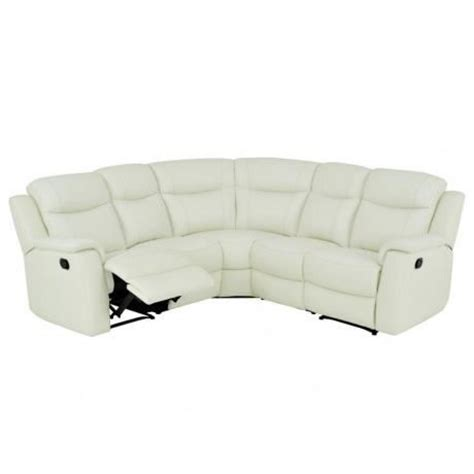 canape angle relaxation canapé d 39 angle relax cuir evasion blanc achat vente