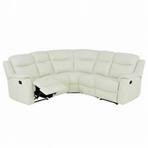 canape d39angle relax cuir evasion blanc achat vente With canape cuir relax d angle