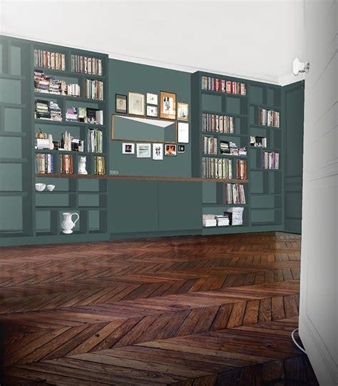 un bureau dans le salon une bibliothèque sur mesure ma récréation le de