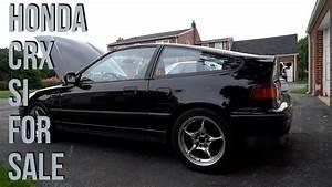Super Clean 1988 Honda Crx Si  For Sale