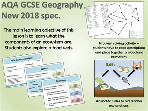 Aqa Gcse Geography 2018  What Is An Ecosystem? By