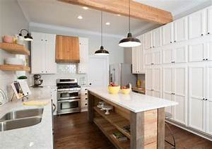 how to add quotfixer upperquot style to your home kitchens With kitchen colors with white cabinets with university of maryland wall art