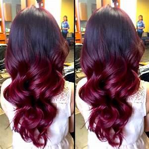Ombré Hair Rouge : couleur cheveux ombre rouge coiffures populaires ~ Melissatoandfro.com Idées de Décoration