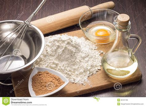 Baking Ingredients Background Stock Image  Image 35101795