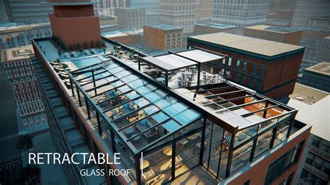 retractable glass roof  guillotine systems youtube