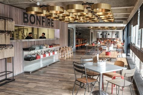 bonfire restaurant   barbican  architect
