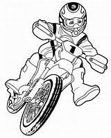 Dirt Bike Coloring Pages Printable Bikes Simple Preschoolers Everfreecoloring sketch template