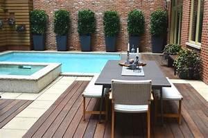 amenagement petit jardin dans larriere cour idees modernes With amenagement petit jardin avec terrasse et piscine