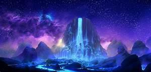 2560x1440, Fantasy, Waterfall, 1440p, Resolution, Wallpaper, Hd