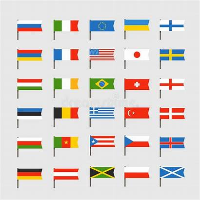 Flags Clip Countries Different Clipart Lander Illustration