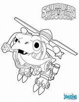 Skylanders Coloring Pages Trigger Happy Jayden sketch template