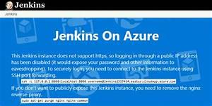 Creare Un Server Jenkins In Azure