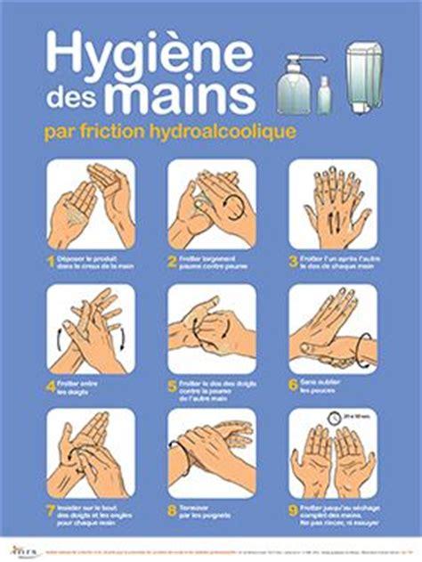 formation de cuisine collective hygiène des mains par friction hydroalcoolique affiche inrs