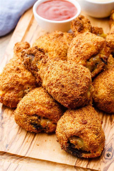 fried chicken crispy air recipes fryer recipe wings paleo ever thighs guilt drumsticks paleogrubs frying grubs way drumstick fries food