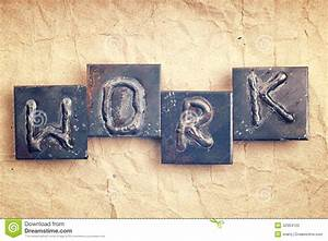 the word work made from metal letters stock photo image With making metal letters