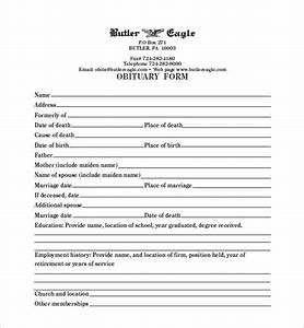 blank obituary template 7 free word excel pdf format With obituary outline template