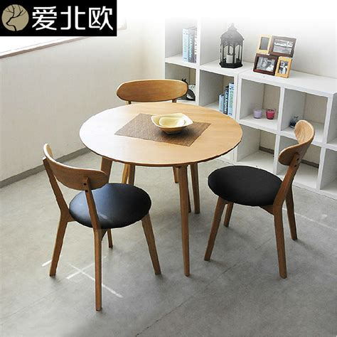 table modern small family solid wood table and
