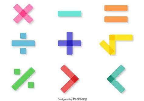 Vector Colorful Math Symbols Set Free Vector Download