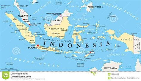 indonesia map  cities cartoon vector cartoondealer