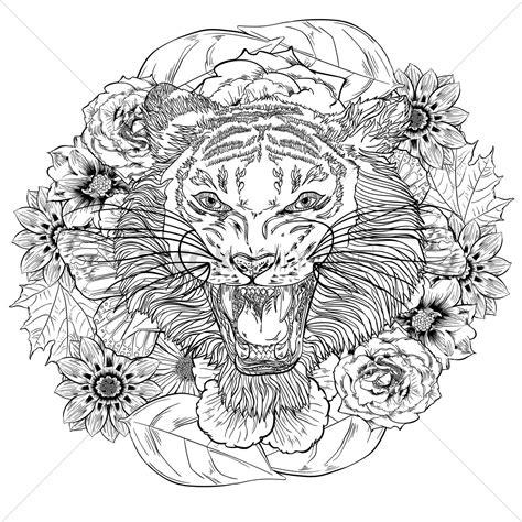 Kleurplaat Volwassenen Tijger by Intricate Tiger Design Vector Image 1994269 Stockunlimited