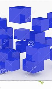 Abstract 3D Glossy Cubes Background. Stock Illustration ...