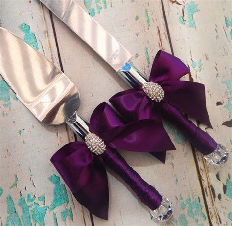 color wedding cake serving set plum wedding knife