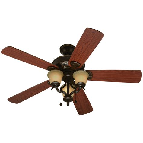 oil rubbed bronze ceiling fan with light flush mount shop harbor breeze danrich marina 52 in oil rubbed bronze