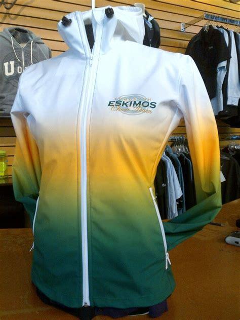 New Rain Jackets For The Edmonton Eskimos Cheer Team Using